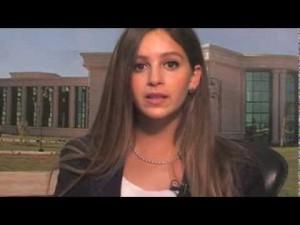 Jamila as a TV presenter
