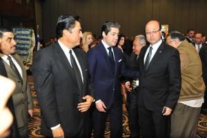 HE Hany El Messiry, Alex governor & Mr. Christos Capodistrias, Consul of Greece & Mr. Marwan El Sammak, Head of  Businessmen  Association
