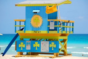 photo: miami beach lifeguard hut florida