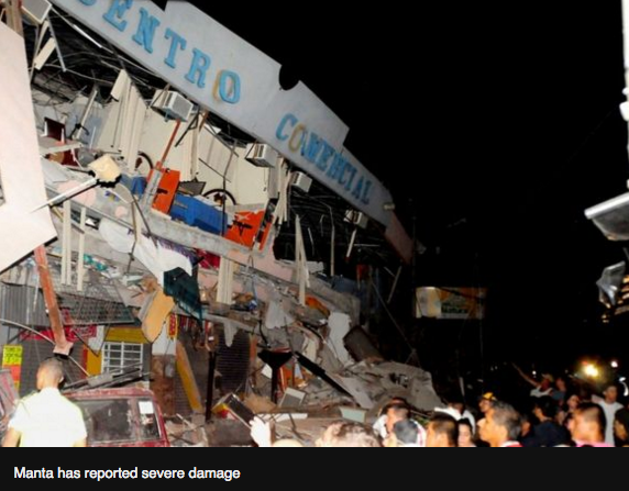 Ecuador earthquakefafa of 7.8 magnitude kills dozens BBC News