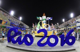 RIO DE JANEIRO, BRAZIL - FEBRUARY 08:  A Rio Olympics 2016 car is seen before the first day of parades of the panel's Carnival in Rio de Janeiro on Marques de Sapucai Sambadromo on February 08, 2016 in Rio de Janeiro, Brazil. (Photo by William Volcov/Brazil Photo Press/LatinContent/Getty Images)