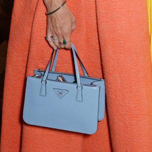 laura-bailey-blue-mini-prada-bag-orange-skirt-roksanda-ilincic-mount-street-london-store-opening-celebrity-designer-handbags