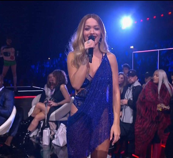 All of Rita Ora's 13 outfit changes as she wins everyone over with her presenting style/hugely praised METRO GRAB taken from MTV EMA's stream Credit: MTV