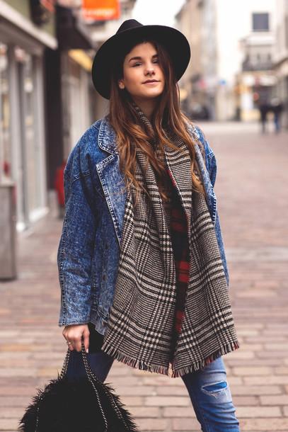 98vn4g-l-610x610-fashion+fraction-blogger-scarf-hat-tartan+scarf-denim+jacket