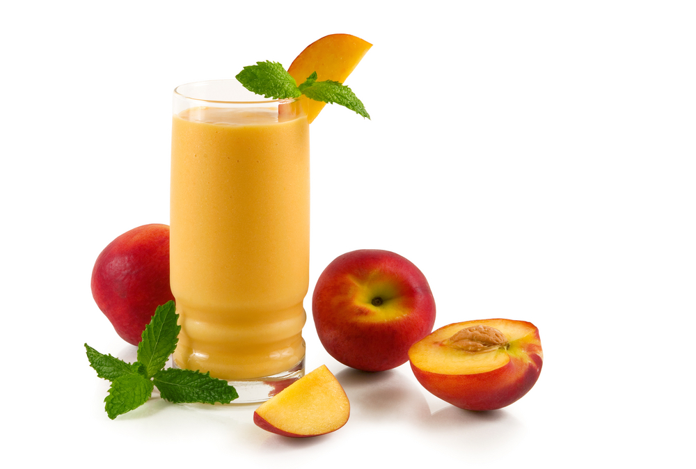Easy-Nectarine-Soy-and-Oat-Smoothie