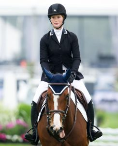 Jennifer Katharine Gates horse riding