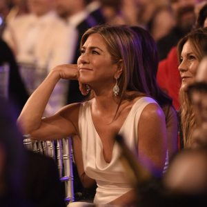 Jennifer Aniston Reacts to Brad Pitt's Marriage Joke During SAG Speech