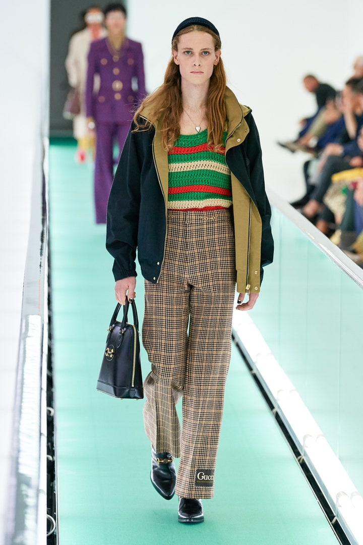 Gucci Spring 2020 collection check pants