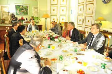H.E The French Ambassador 7 The Media Representatives around the Breakfast table