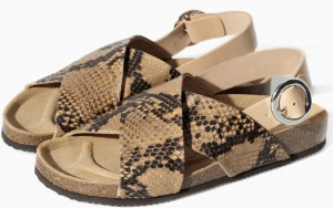 Zara-tan-snakeskin-cork-double-strap-flat-sandals-100