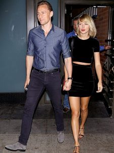 *PREMIUM EXCLUSIVE* **WEB EMBARGO UNTIL 10AM PST ON 07/29/16** Santa Monica, CA - Taylor Swift and Tom Hiddleston arrive hand in hand with ear to ear smiles for a romantic dinner for two at Hillstone in Santa Monica. The happy couple smiled for cameras on their way out with their bodyguards after dinner. Taylor wore a black crop top with a matching skirt and gold sandals as she held tight to Tom's hand.  AKM-GSI   July  27, 2016  To License These Photos, Please Contact :  Maria Buda (917) 242-1505 mbuda@akmgsi.com sales@akmgsi.com  or   Mark Satter (317) 691-9592 msatter@akmgsi.com sales@akmgsi.com www.akmgsi.com