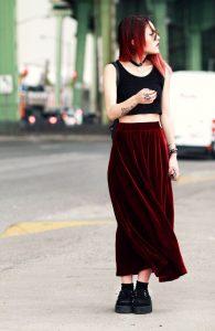 4.-velvet-skirt-with-cropped-top