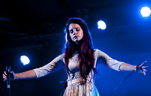 SOUTHWOLD, UNITED KINGDOM - JULY 13: Lana Del Ray performs at the Latitude Festival at Henham Park Estate on July 13, 2012 in Southwold, United Kingdom. (Photo by Nick Pickles/WireImage)